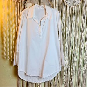 Michael Stars Long Sleeve White Tunic Size MD